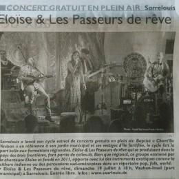 Articles du RL pour le concert du 19.07.15